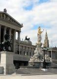 Vienna - il Parlamento austriaco fotografia stock libera da diritti
