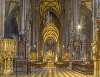 Vienna - Indoor of St. Stephens cathedral Royalty Free Stock Photos