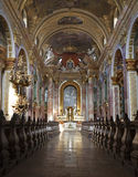 Vienna - interior of baroque church Royalty Free Stock Photo