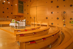 Vienna - Interior of modern chapel in Unocity Royalty Free Stock Image