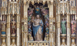 Vienna - Jesus Christ as king of world in Augustnierkirche or Augustinus church Royalty Free Stock Image