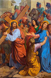 Vienna -  Jesus and his Mother on the cross way. Royalty Free Stock Image