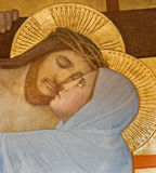 Vienna - Jesus and Mary - Detail from Deposition of the cross scene Stock Photos