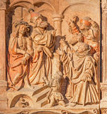 Vienna - judgment of Jesus for Pilate relief Royalty Free Stock Photography