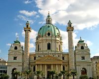 Vienna, Karlskirche 05. The Karlskirche cathedral in Vienna, Austria Stock Photography