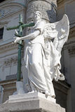 Vienna, Karlskirche. Sculpture of angel Stock Image