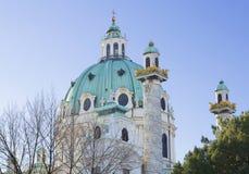 _ vienna Kyrkan av St Charles Royaltyfri Foto