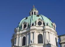 _ vienna Kyrkan av St Charles Arkivbilder