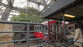 A Vienna, l'Austria che passa la cabina della ruota di ferris stock footage
