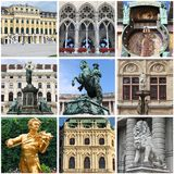 Vienna landmarks collage Stock Photo