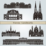 Vienna landmarks and monuments Royalty Free Stock Photography