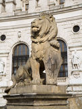 Vienna - lion fot the National library Royalty Free Stock Images