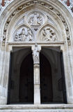 Vienna - Main portal from st. Elizabeth from Hungary neo gothic church Royalty Free Stock Photo
