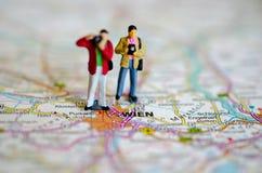 Vienna on map