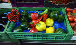 The Vienna market for food, Austria Royalty Free Stock Images