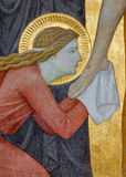 Vienna - Mary Magdalen. Detail from Deposition of the cross scene  in Carmelites church. Stock Photo