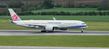 Airbus A350 taking off royalty free stock image