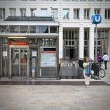 Vienna metro station Stock Photo