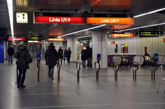 Vienna metro station Stock Image