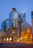 Vienna - The modern building form st. Stephen square (Stephansplatz) at dusk. Stock Photos