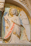 Vienna - Modern statue of angel from side altar in Carmelites church in Dobling. Stock Image