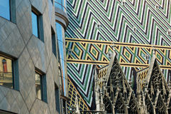 Vienna: Moderno e vecchio Fotografia Stock