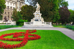 Vienna. Monument to Mozart Royalty Free Stock Image