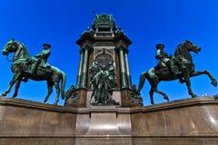 Vienna - monumento della Maria Theresia dell'imperatrice Immagini Stock Libere da Diritti