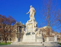 Vienna Mozart monument Stock Photography
