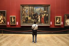 Vienna museum visitor Stock Photography