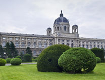 Vienna Museums. Facade of one of the beautiful buidings at the Museum District of Vienna (Austria Stock Photos