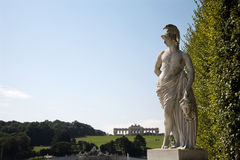 Vienna - mythology statue - Schonbrunn Stock Image