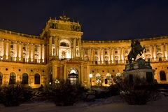 Vienna - national library in winter Stock Photo