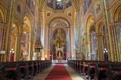 Vienna - Nave of Altlerchenfelder church Royalty Free Stock Images