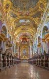 Vienna - Nave of baroque Jesuits church. The church was built between 1623 and 1627. Royalty Free Stock Image