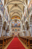 Vienna - Nave of Carmelites church in Dobling. Royalty Free Stock Photos