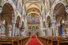 Vienna - Nave of Carmelites church in Dobling. Royalty Free Stock Image