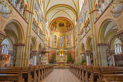 Vienna - The nave of Herz Jesu Kirche. Royalty Free Stock Images