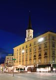Vienna at night stock photos