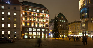 Vienna in night.   Austria Royalty Free Stock Image