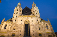 Vienna by night Royalty Free Stock Photo