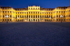 Vienna at night, palace schoenbrunn Royalty Free Stock Photos