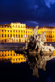 Vienna by night, Schonbrunn Palace Stock Images