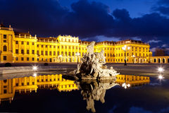 Vienna by night, Schonbrunn Palace Stock Image