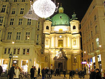 Vienna at night Royalty Free Stock Photo
