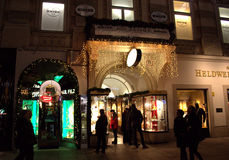 Vienna night street view Royalty Free Stock Photography