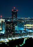 Vienna at Night. As seen from the Danube Tower Royalty Free Stock Photography