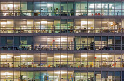 Vienna - offices at night Royalty Free Stock Image