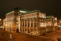 Vienna opera. State Opera House in Vienna by night royalty free stock photos