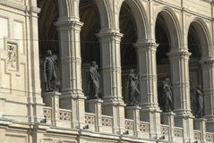 Vienna Opera. Detail of the Vienna Opera building royalty free stock photography
